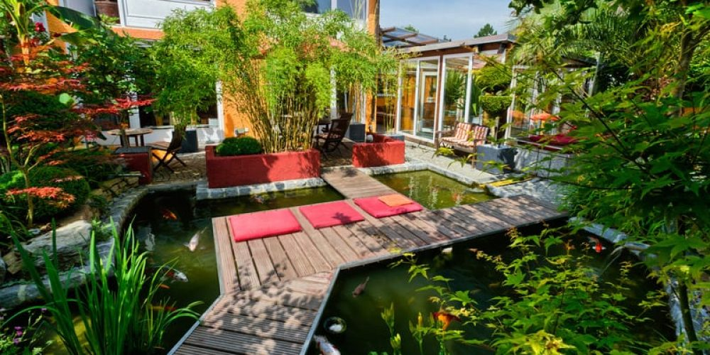 Private Garden with Koi Pond